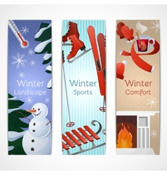 Winter Banners Set vector image