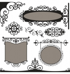 wrought iron vintage vector image