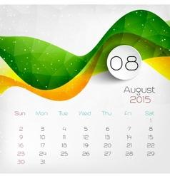 2015 Calendar August vector image