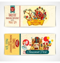 Amusement Park Tickets vector image vector image