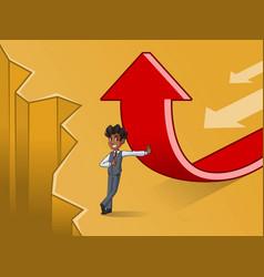 businessman in vest change of a direction concept vector image vector image