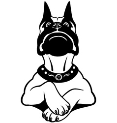 cartoon boxer black white vector image vector image