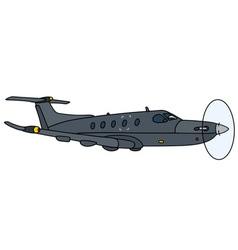 Dark propeller aircraft vector