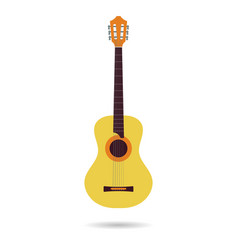 isolated flat icon of the classical guitar vector image