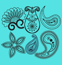 Paisley and swirls decoration element vector image vector image