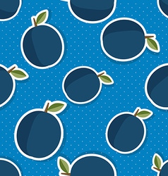 Plum pattern Seamless texture with ripe plums vector image