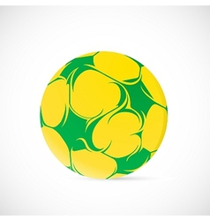 Artistic soccer ball vector image vector image