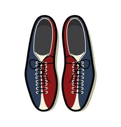 bowling shoes color resize vector image vector image