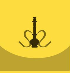 flat icon with dark shadow hookah and hookah vector image