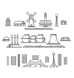 Industry hand drawn items vector image vector image