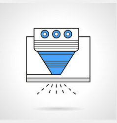 Laser processing flat line icon vector