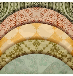 Vintage Floral Patterns vector image vector image