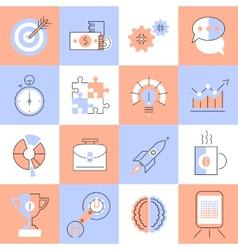 Creative icons set flat line vector image