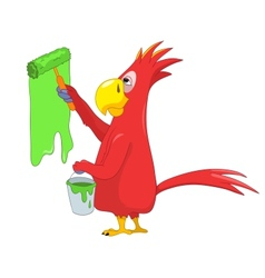 Funny Parrot Painter vector image