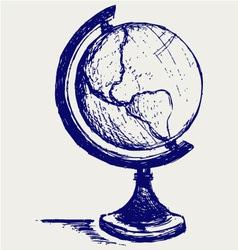 Globe sketch vector image