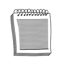 hand drawing of notebook of spiral with sheets vector image vector image