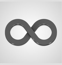 infinity 3d icon black template design element vector image vector image