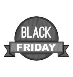Label black friday icon gray monochrome style vector image