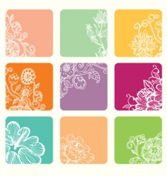 nine color vector image vector image