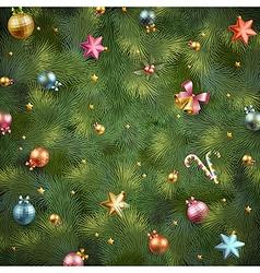 xmas tree vintage texture vector image vector image