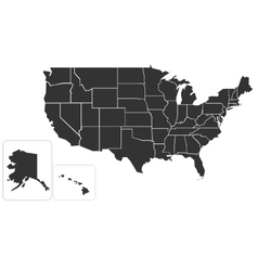 Blank simlified map of USA vector image