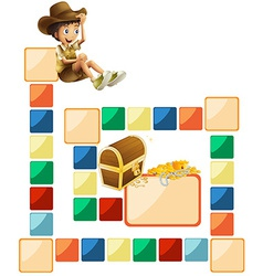 Boardgame template vector image