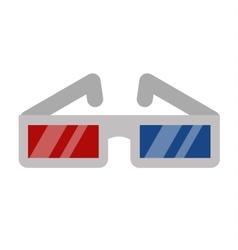 Cinema movie glasses on white background vector image