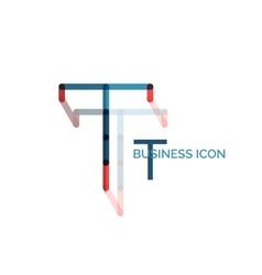 Minimal T font or letter logo design vector image vector image