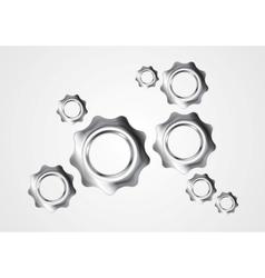 Abstract concept metal gears mechanism design vector