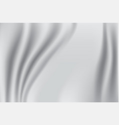 abstract fabric background white and grey silk vector image
