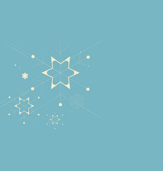 abstract flat christmas snowflakes and stars vector image
