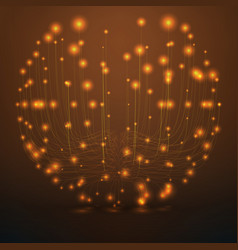 Abstract orange sphere mesh vector