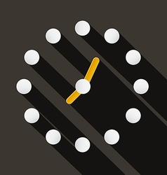 Abstract paper circle clock face on dark bac vector