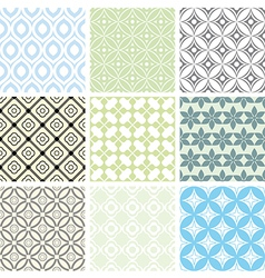 Abstract seamless ornament patterns vector