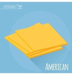American cheese icon vector