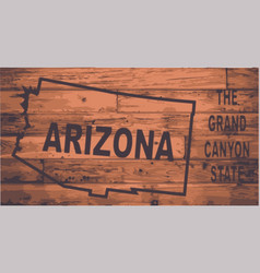 arizona map brand vector image