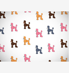 awesome greeting card with cute cartoon dogs vector image