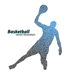 Basketball player of the triangles vector