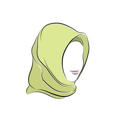 beautiful muslim woman in hijab on her head vector image
