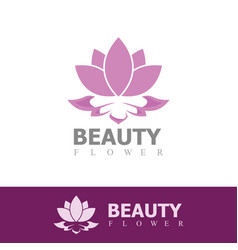 beauty flower logo vector image