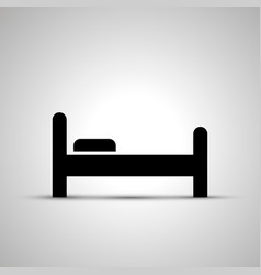 bed silhouette side view simple black icon vector image