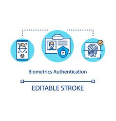 Biometrics authentication concept icon vector