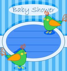 Bird bashower invitation-boy vector