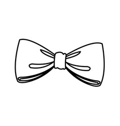Bow decoration elegant ribbon image line vector