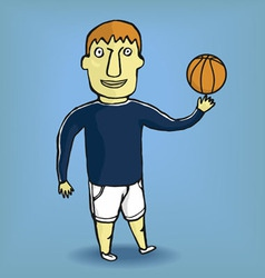 Boy in a sportsuit vector