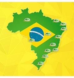 Brazil soccer championship stadiums vector