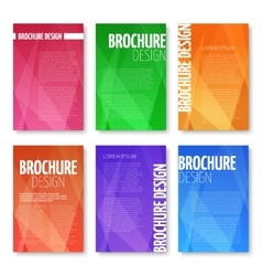 Brochures and UI templates set with vector image