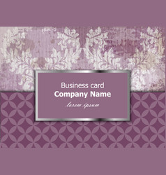 business card with luxury ornament baroque vector image