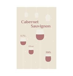 Cabernet Sauvignon label vector