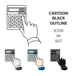 Calculation icon in cartoon style isolated on vector